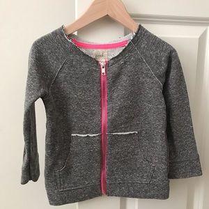 Peek rough edge zip sweatshirt 18-24 months